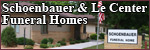 Le Center and Schoenbauer Funeral Homes provide funeral, cremation, and prearrangement services.