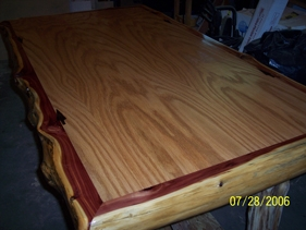 Oak Red Cedar Wrapped Dining Table