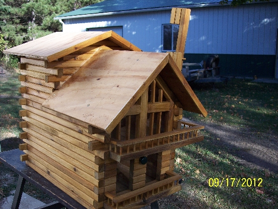 Northern White Cedar Custom Mailbox Designed To Scale Of