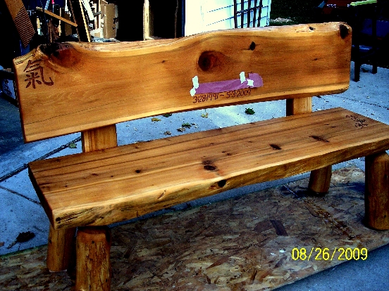PDF DIY Log Bench Plans Download lawn furniture kits ...