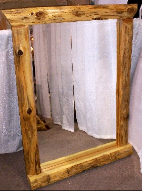 Northern White Cedar Log Mirror 24 Quot X 36 Quot Glass Size