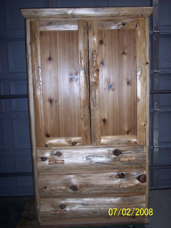 Northern White Cedar Log Bed Queen Size
