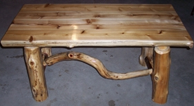White And Red Cedar Coffee Table